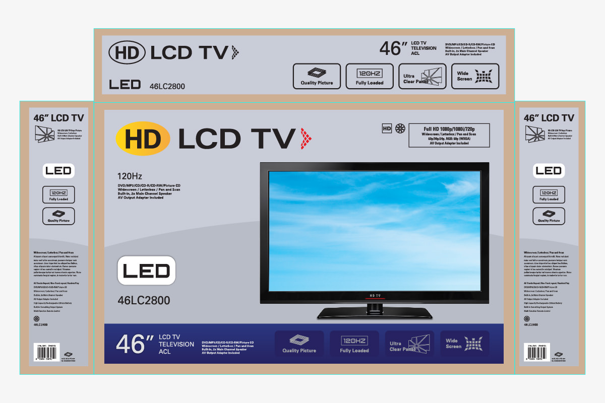 LCD TV packaging