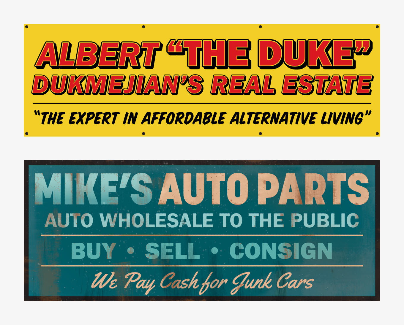 GF Season 3 Car Lot Banners
