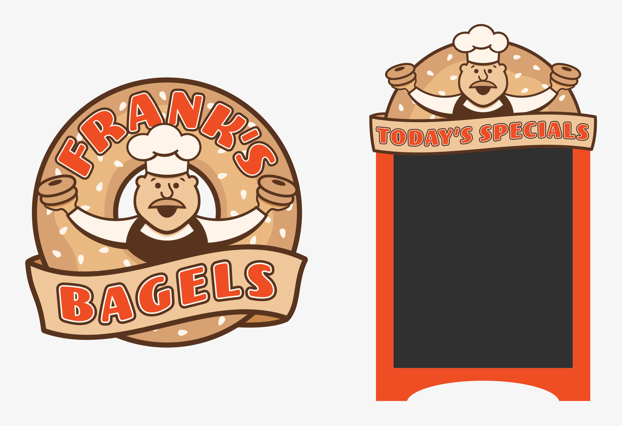 Grace and Frankie Season 3 Bagel Shop Signage