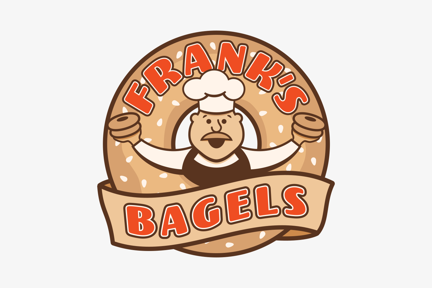 Bagel Shop Logo Grace and Frankie