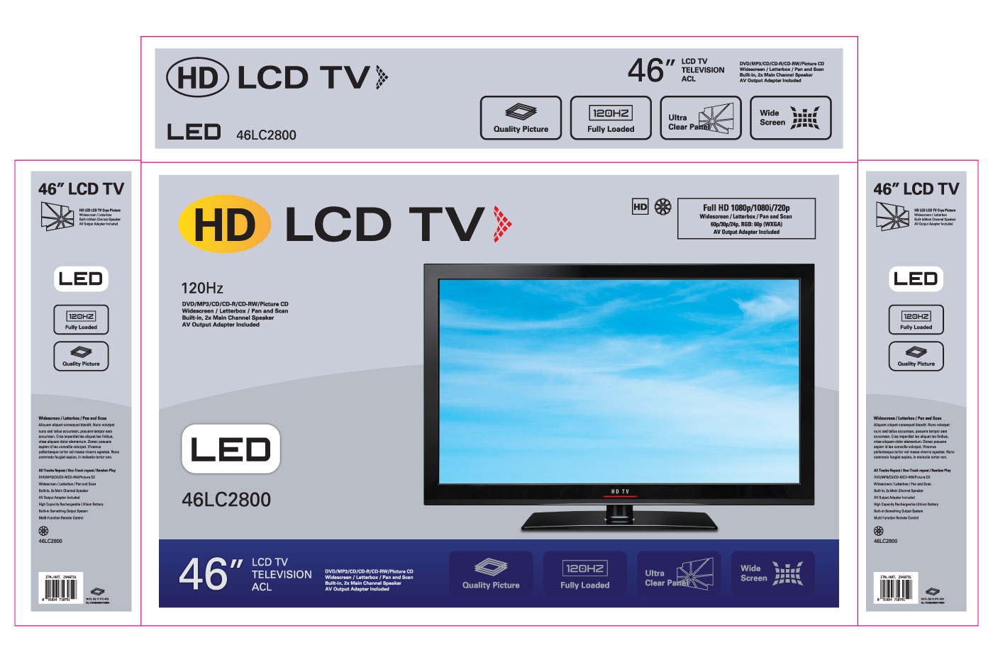 hdtv box graphics