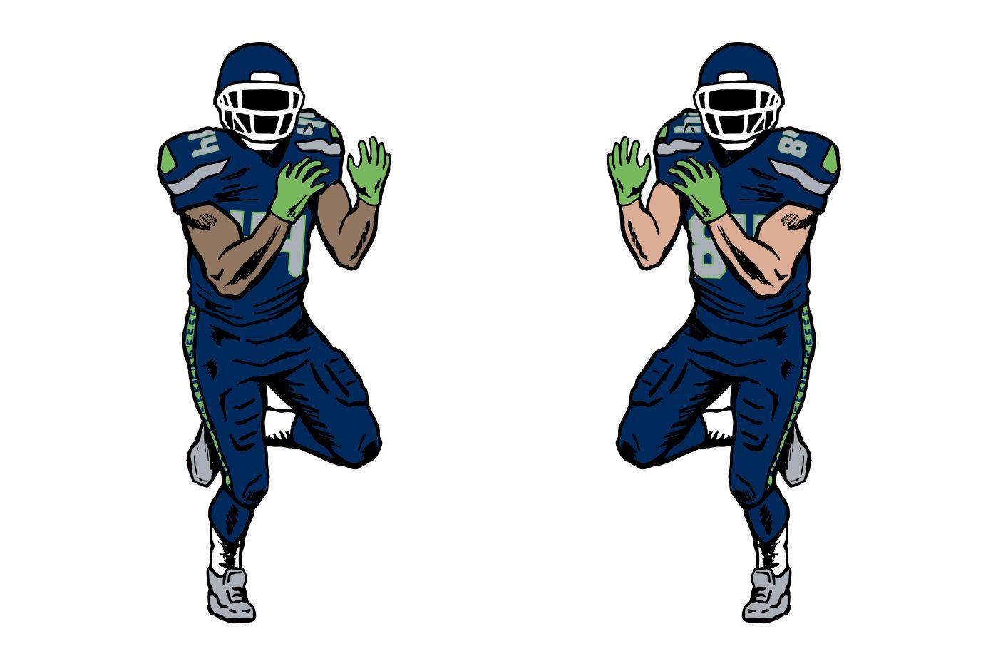 football player graphics