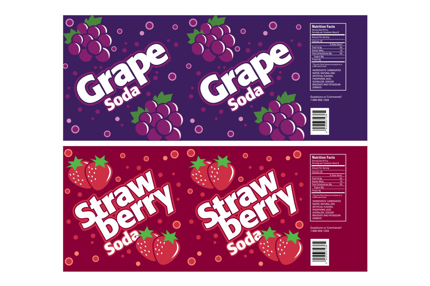 soda label graphics