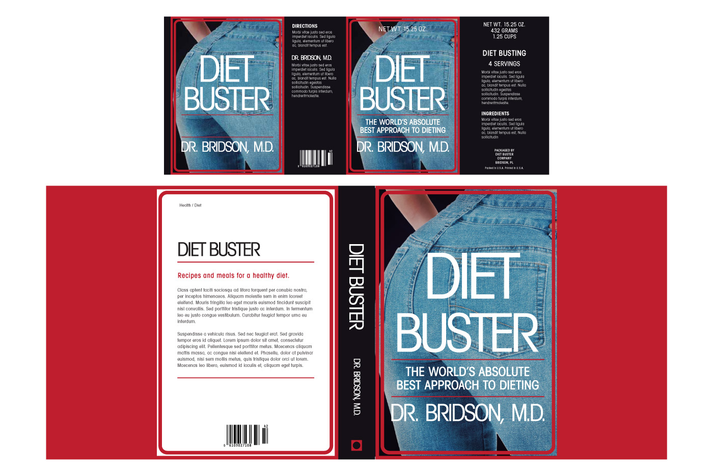 diet buster book and can graphic