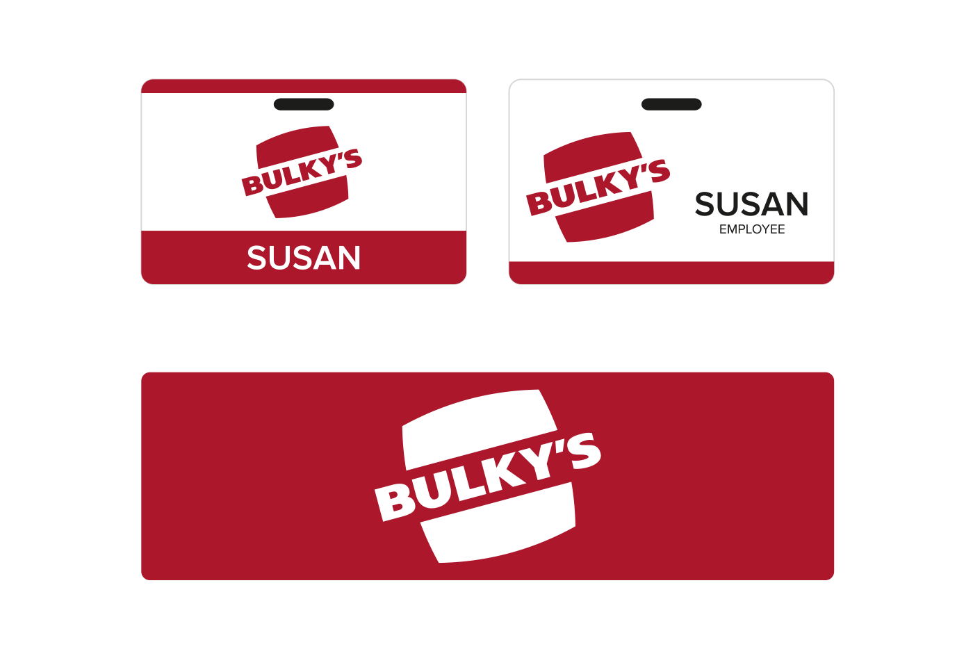 bulky's badges and signs