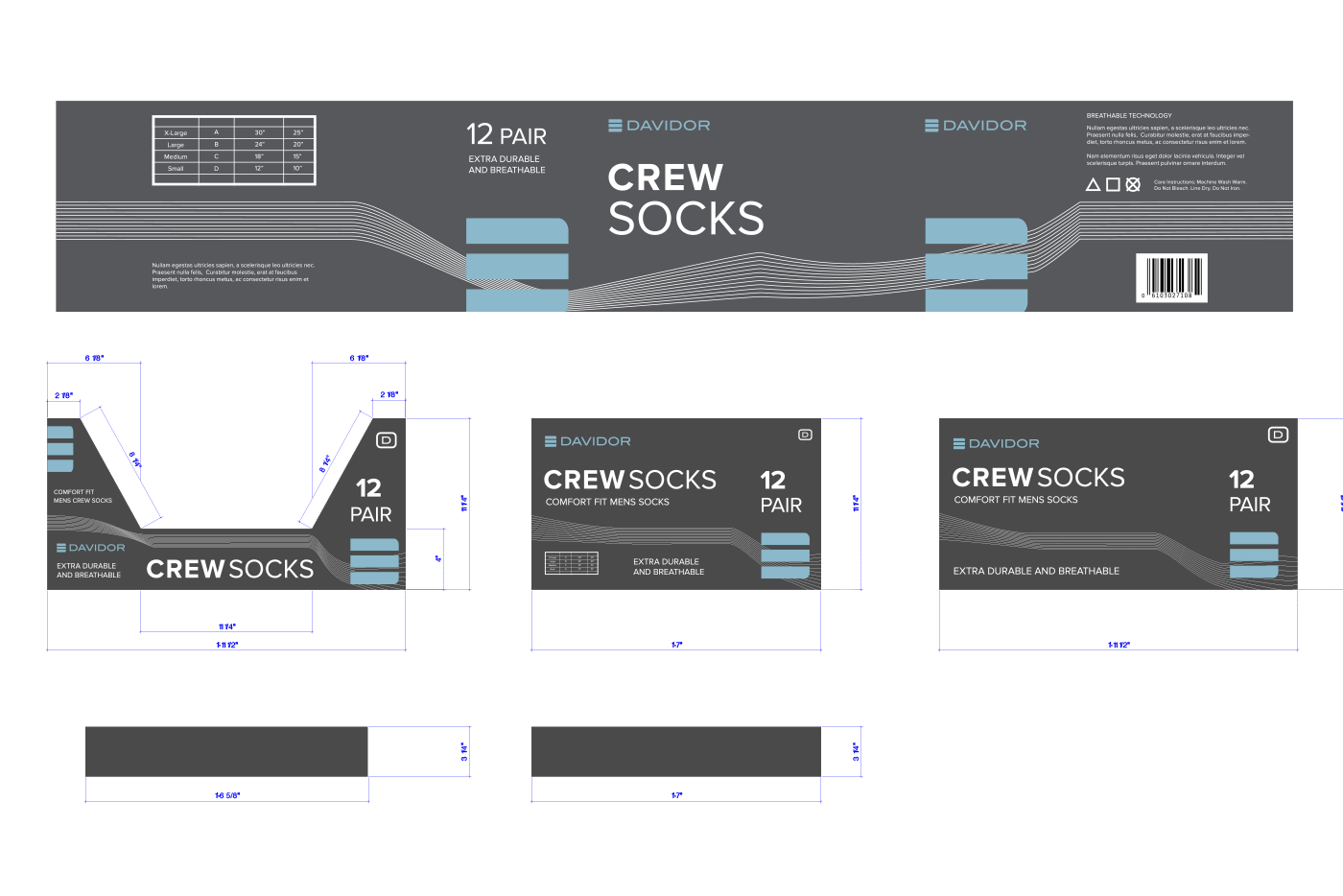 socks box graphics