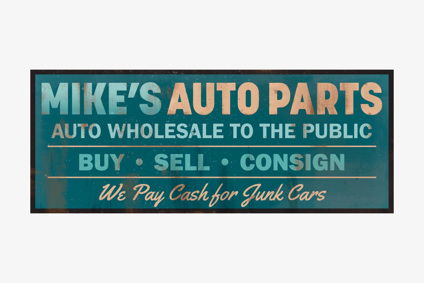 auto parts sign
