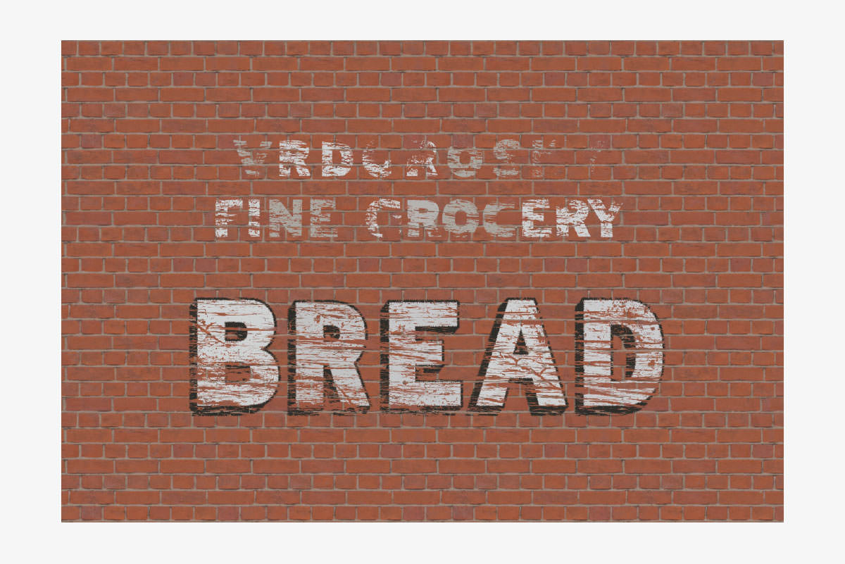 distressed bread sign