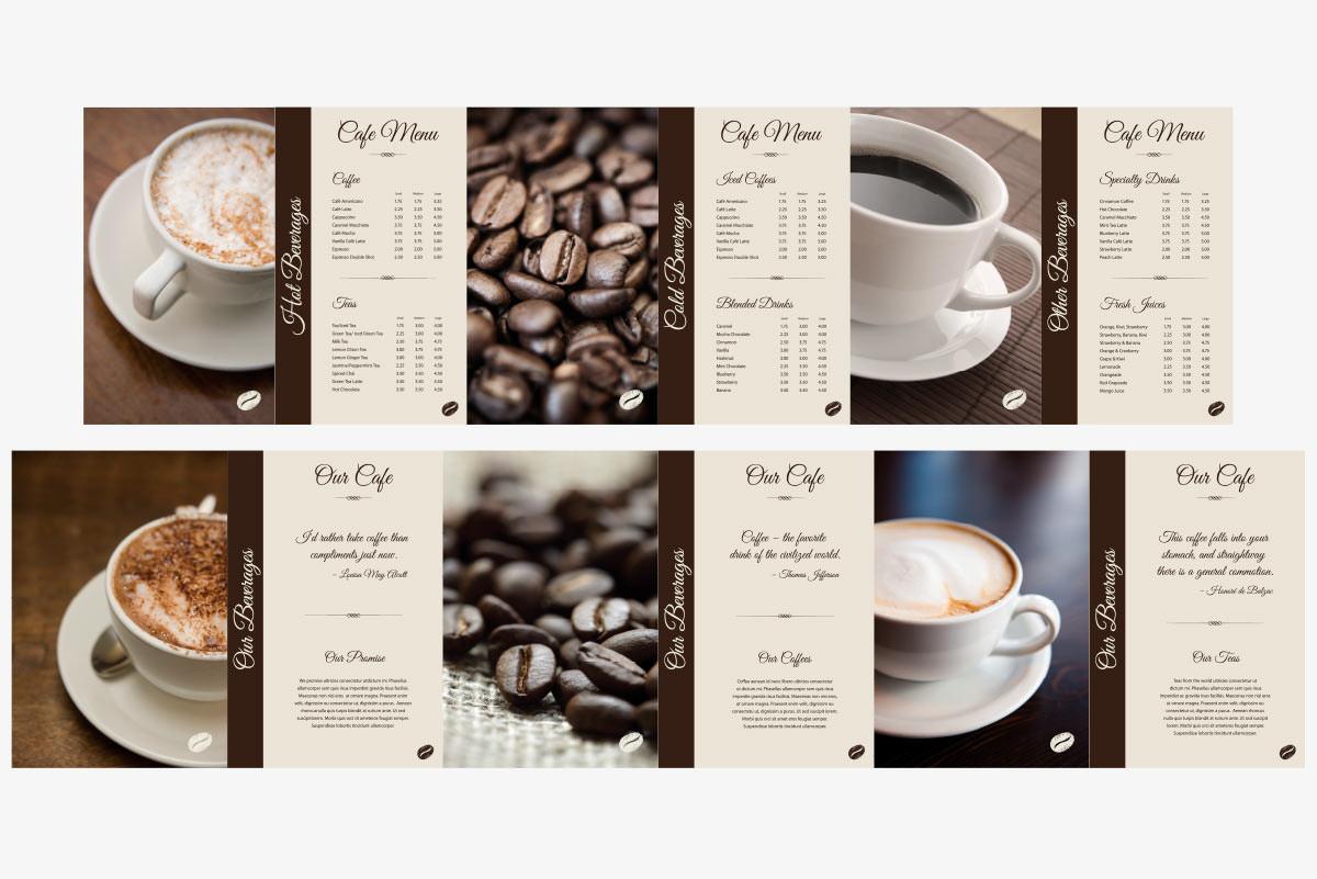 bakery menu signs
