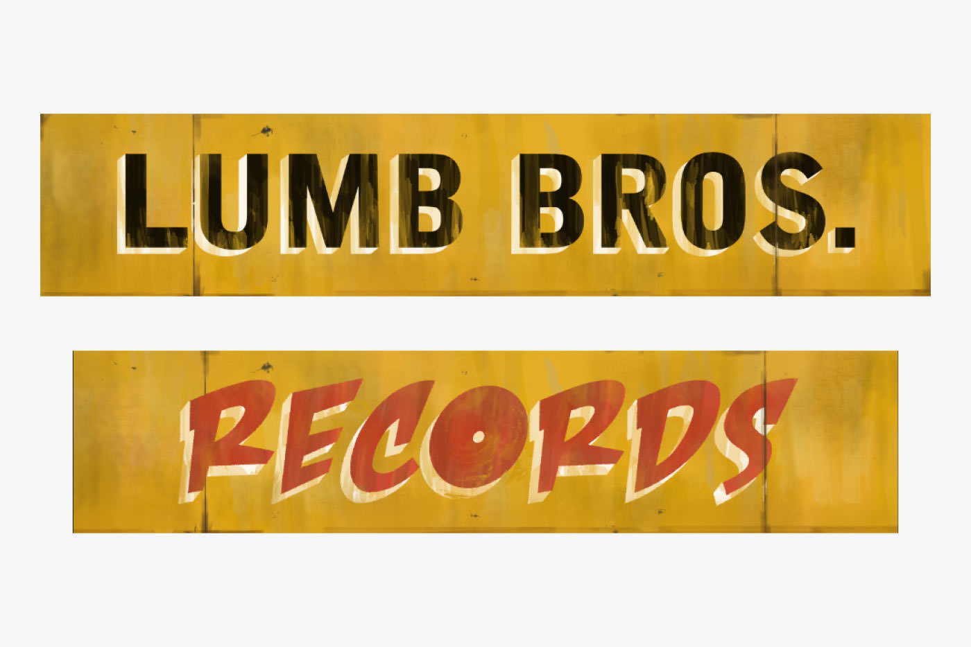 Records store signage