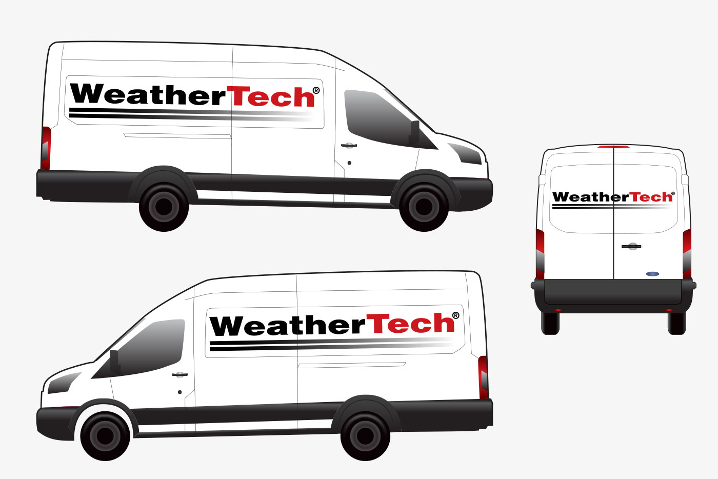 WeatherTech van wrap design