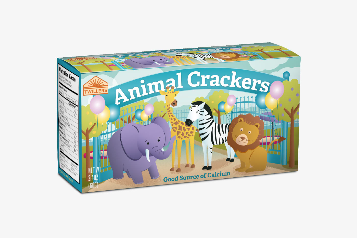 Animal crackers packaging