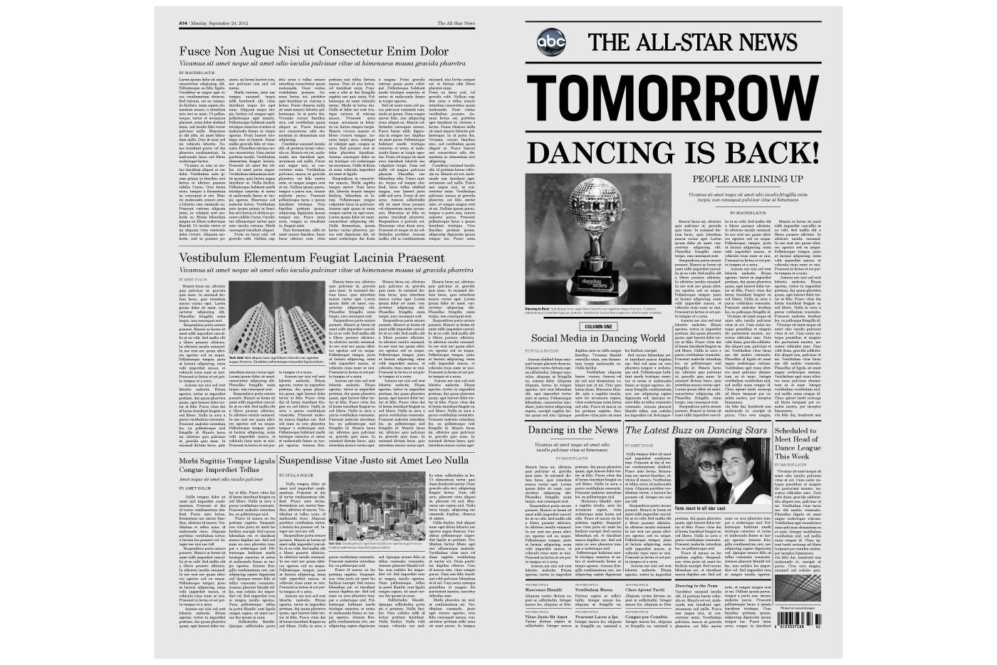 newspaper design layout