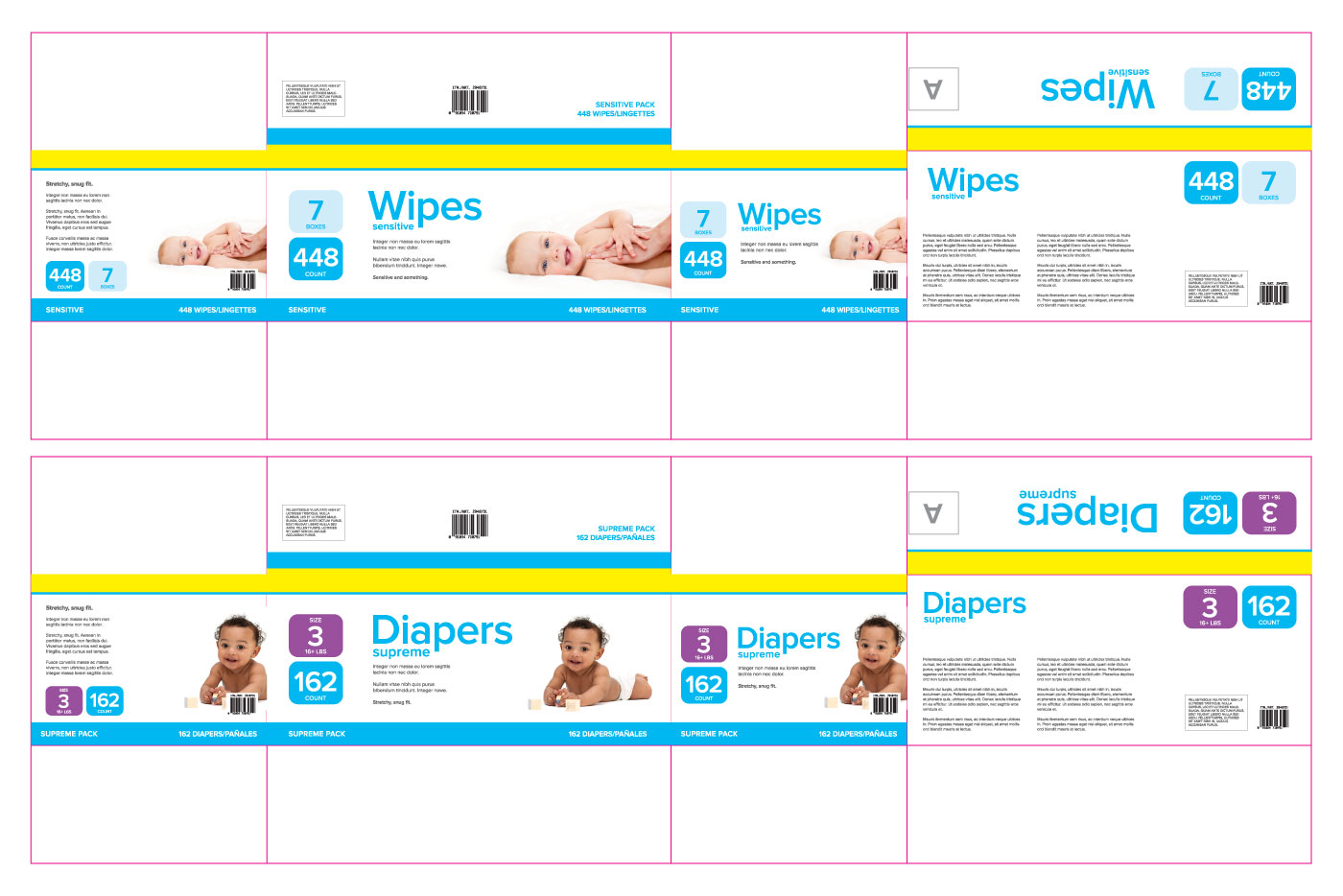 diapers package graphics