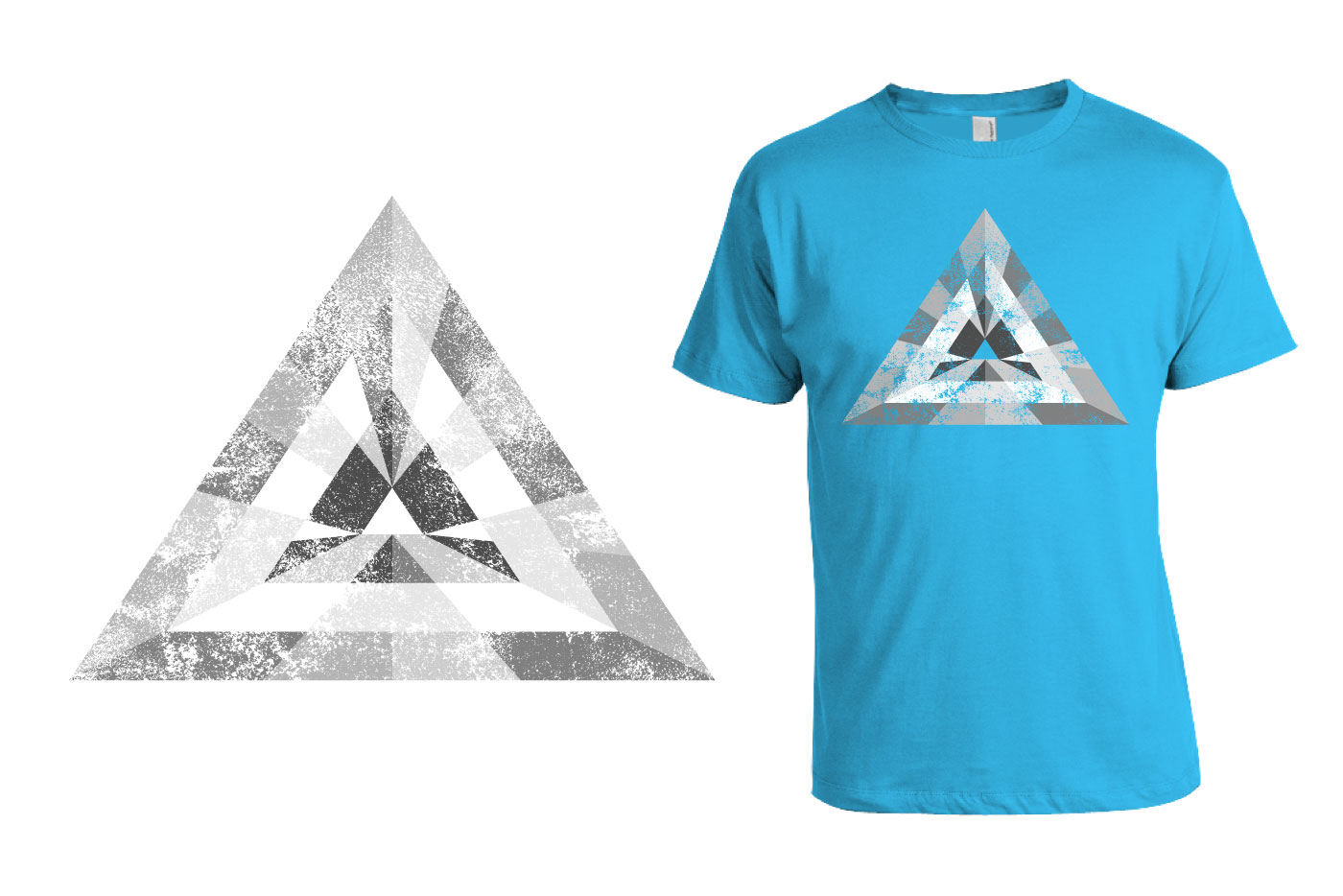 triangle t-shirt graphic